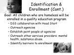 identification enrollment cont