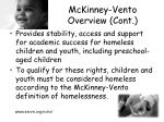 mckinney vento overview cont