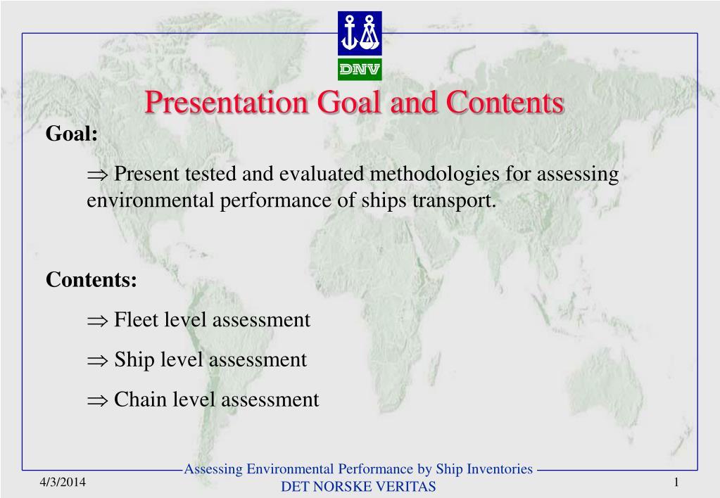 presentation goal and contents l.
