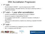 dnv accreditation progression