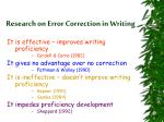 research on error correction in writing