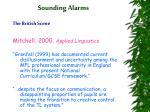 sounding alarms17