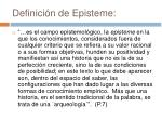 definici n de episteme