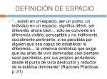 definici n de espacio