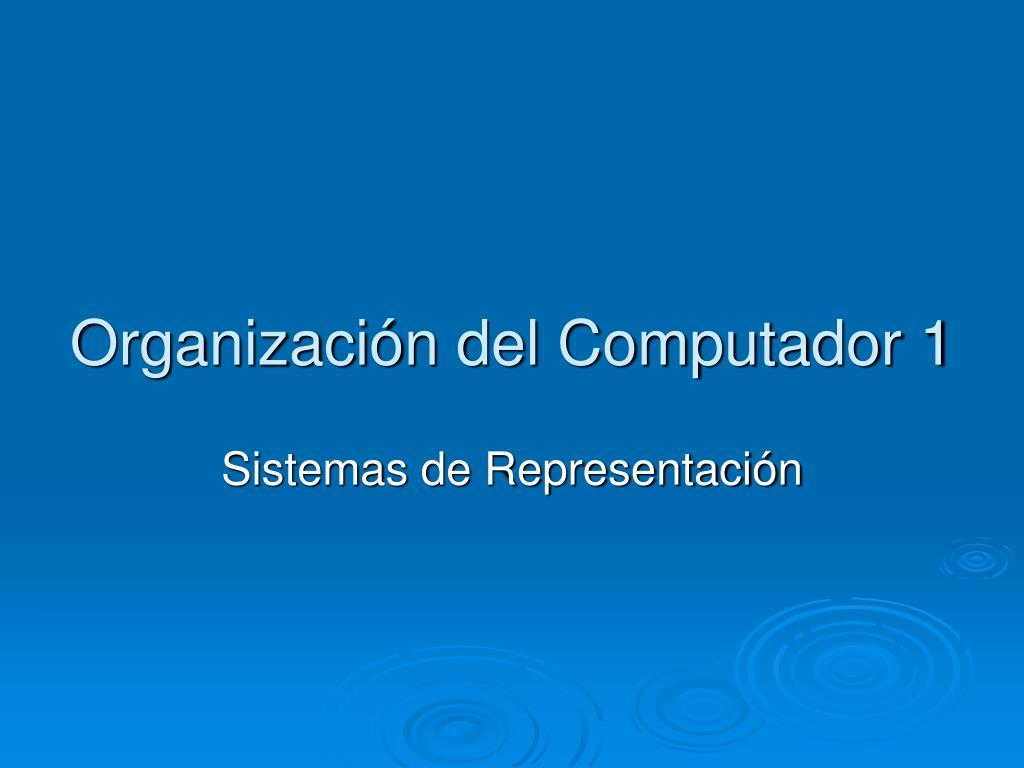 organizaci n del computador 1 l.