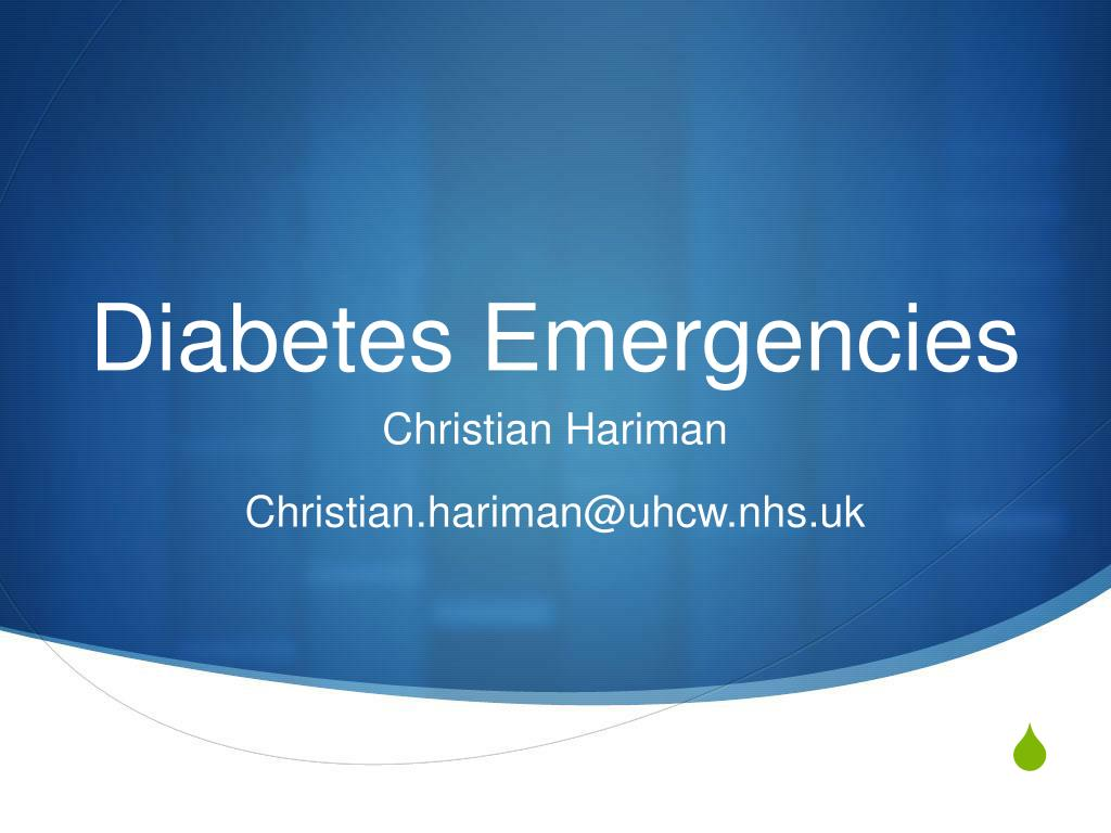 diabetes emergencies l.