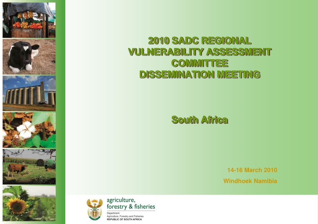 2010 sadc regional vulnerability assessment committee dissemination meeting south africa l.