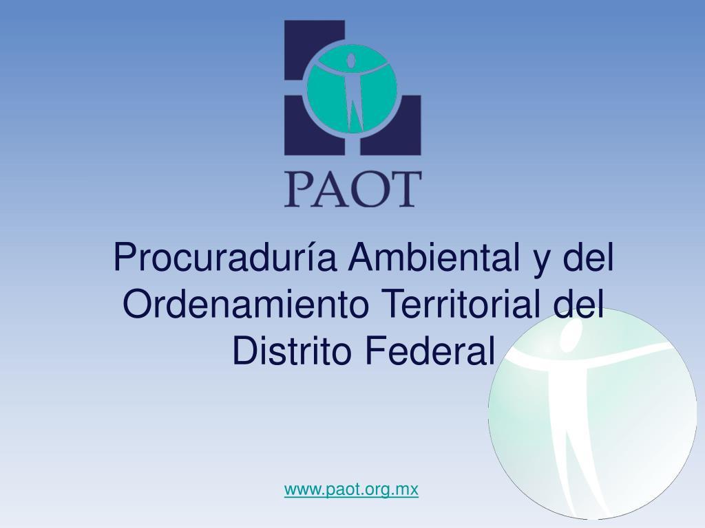 procuradur a ambiental y del ordenamiento territorial del distrito federal l.