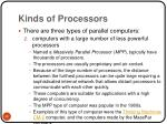 kinds of processors35