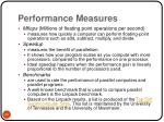 performance measures29