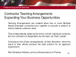 contractor teaming arrangements expanding your business opportunities
