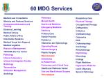 60 mdg services