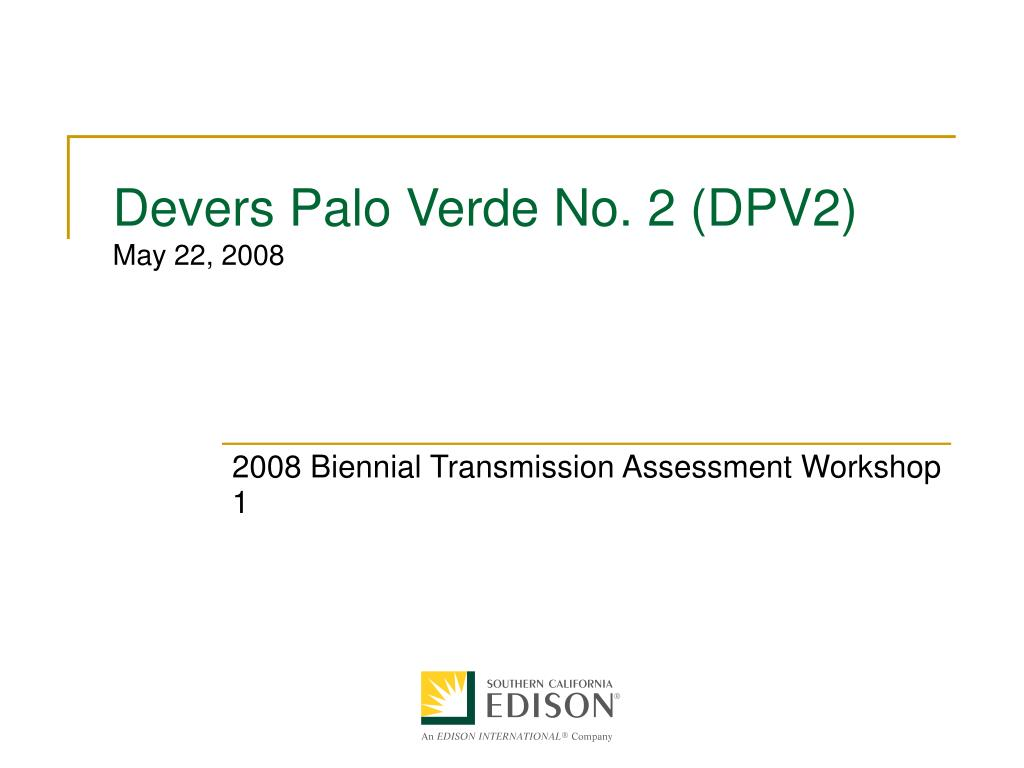 devers palo verde no 2 dpv2 may 22 2008 l.