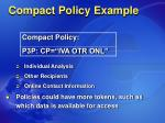 compact policy example