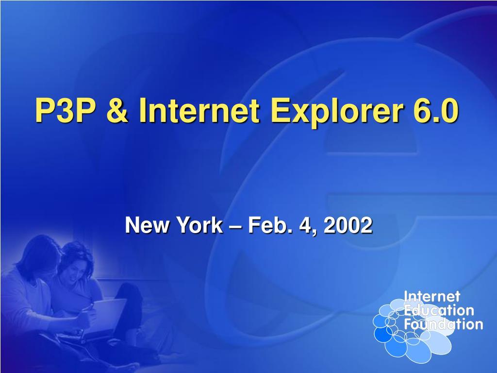 p3p internet explorer 6 0 l.