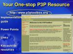 your one stop p3p resource