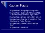 kaplan facts