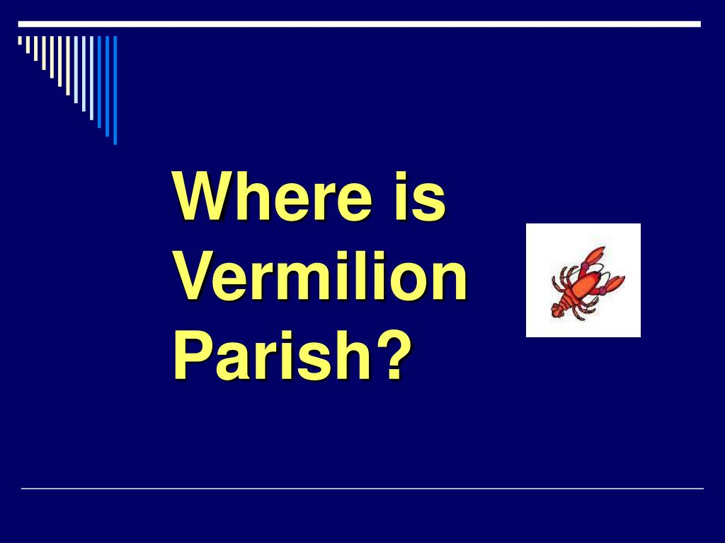 where is vermilion parish l.