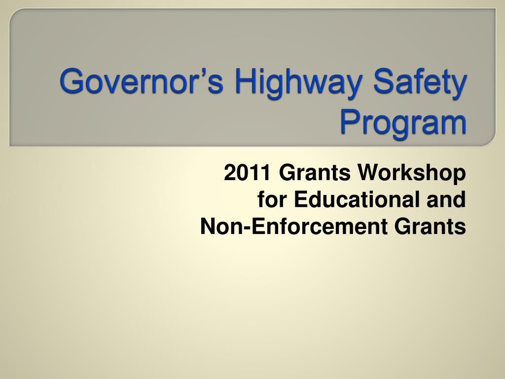 governor s highway safety program l.