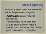 other operating
