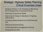 strategic highway safety planning critical emphasis areas