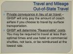 travel and mileage out of state travel43
