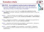 evaluation criteria14
