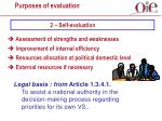 purposes of evaluation4