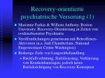 recovery orientierte psychiatrische versorung 1