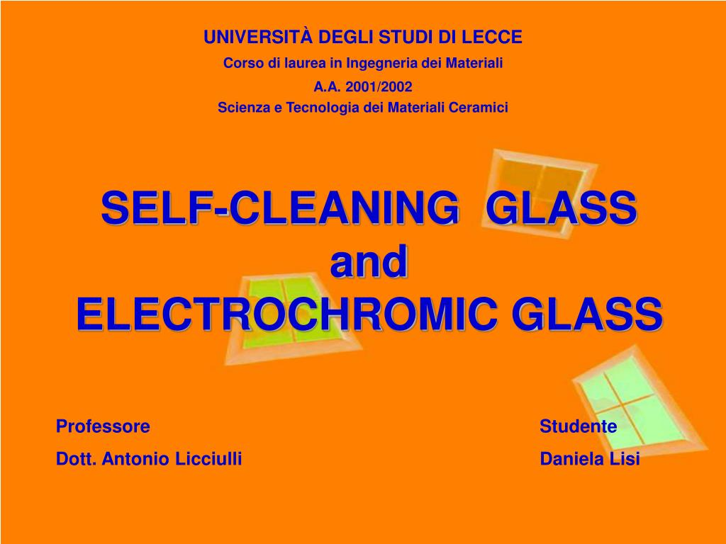 self cleaning glass and electrochromic glass l.