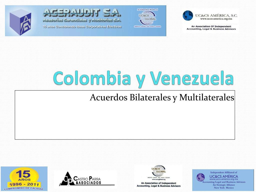colombia y venezuela l.