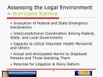 assessing the legal environment hurricane katrina