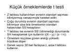 k k rneklemlerde t testi