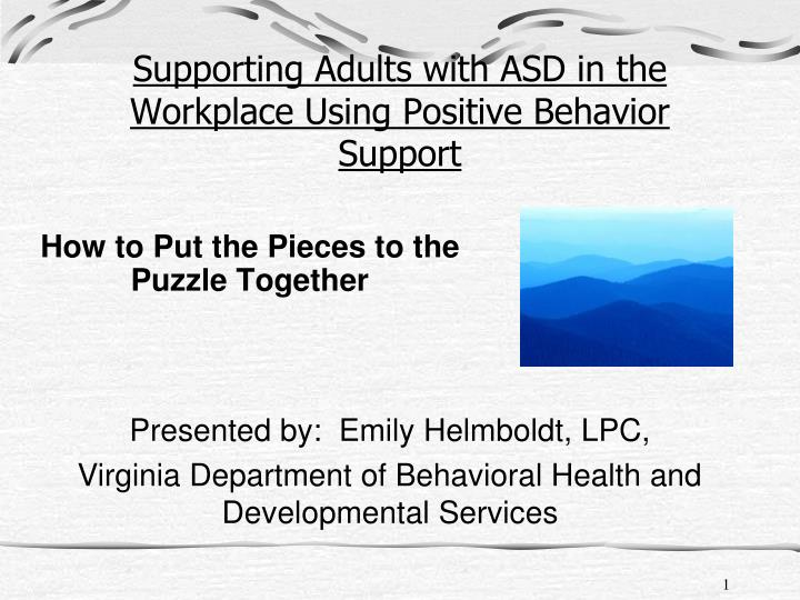 supporting adults with asd in the workplace using positive behavior support n.