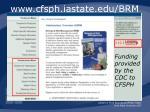 www cfsph iastate edu brm