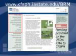 www cfsph iastate edu brm8