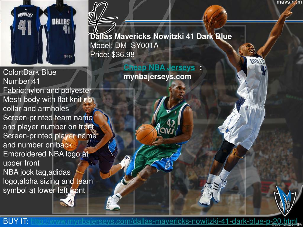 Dallas Mavericks Nowitzki 41 Dark Blue