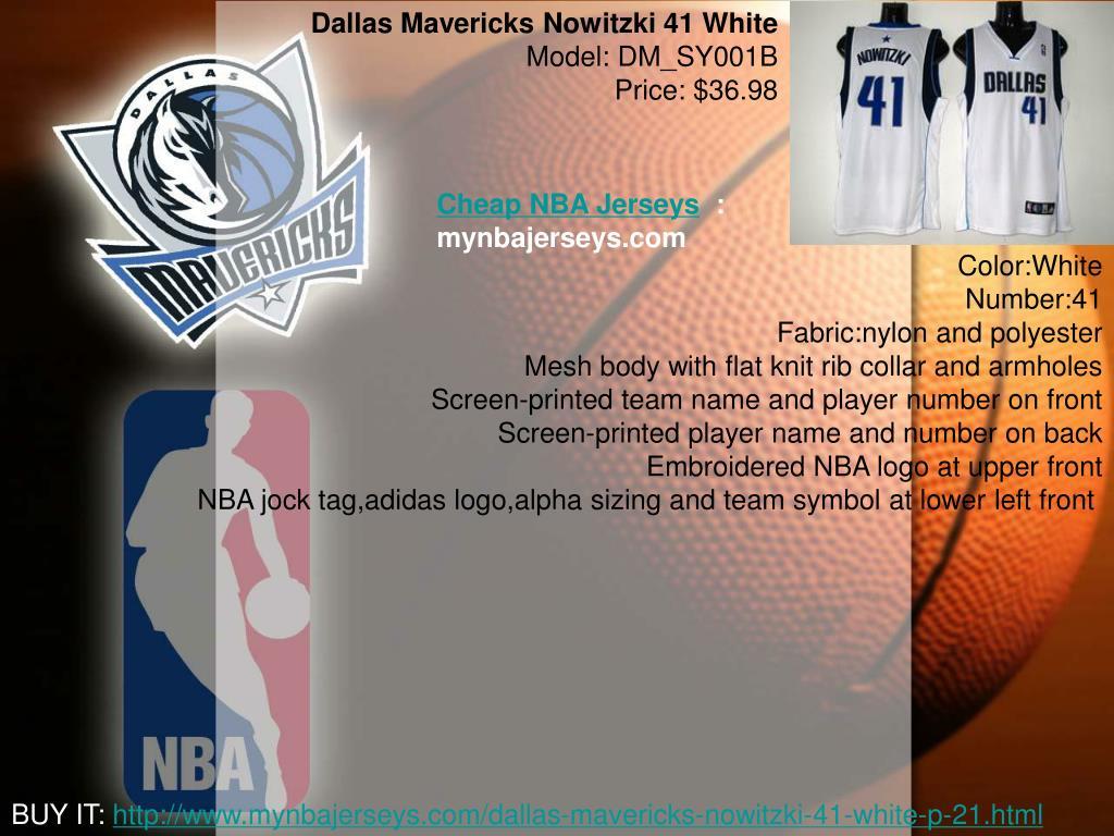 Dallas Mavericks Nowitzki 41 White