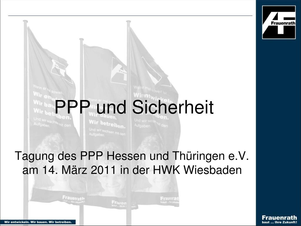 ppp und sicherheit l.