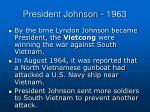 president johnson 1963