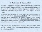 il protocollo di kyoto 1997