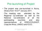 pre launching of project