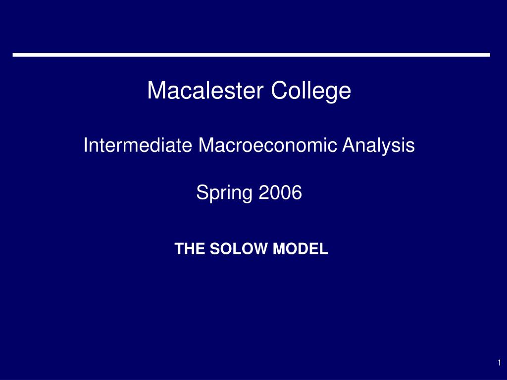 macalester college intermediate macroeconomic analysis spring 2006 l.