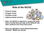 role of the iacuc