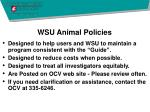 wsu animal policies