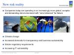 new risk reality