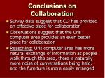 conclusions on collaboration