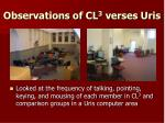 observations of cl 3 verses uris