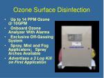 ozone surface disinfection