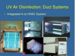 uv air disinfection duct systems